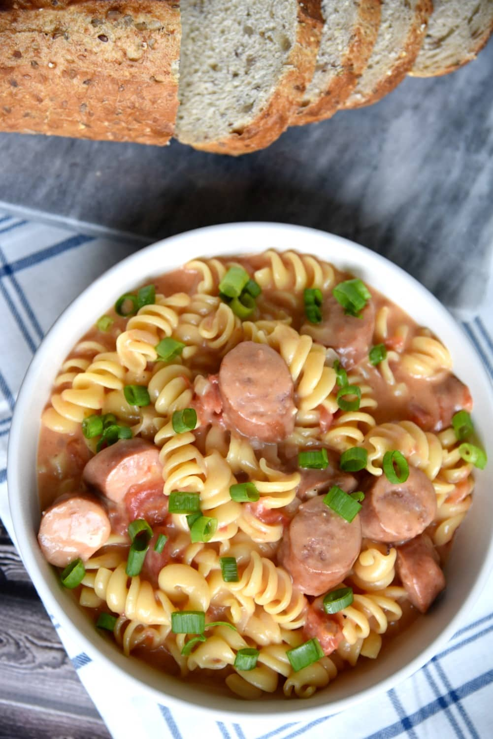Cheesy Pasta with Smoked Sausage