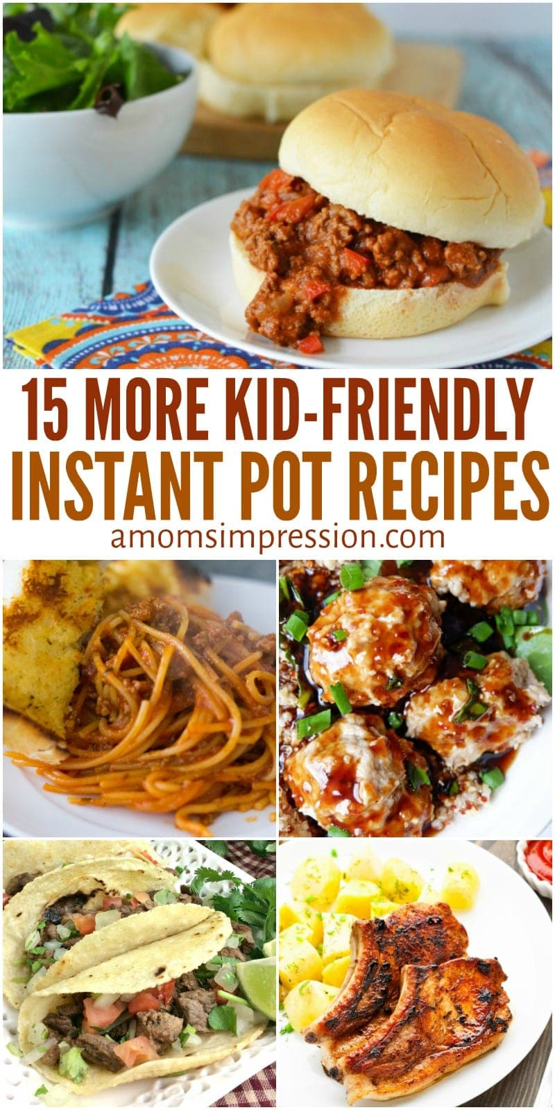 These new 15 Kid-Friendly Instant Pot recipes are quick and easy meals that your kids will love. Using your pressure cooker, you can get them to the table in minutes!