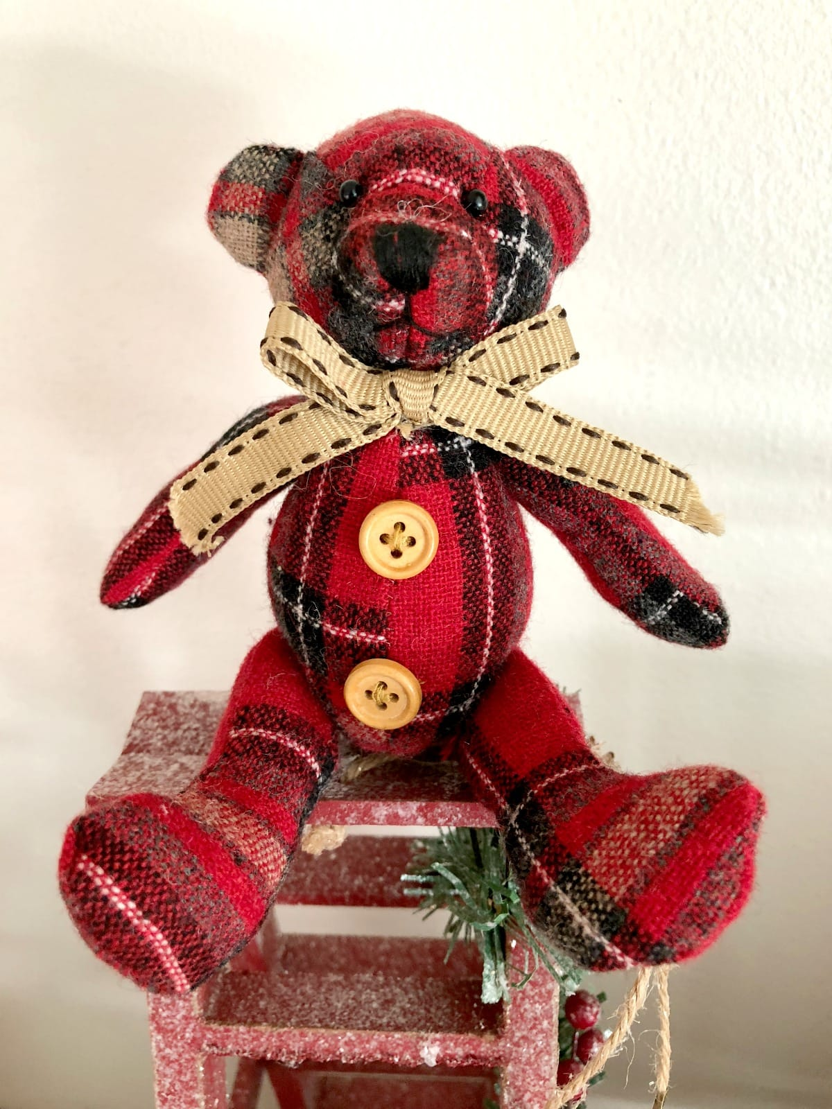 Plaid Christmas Bear