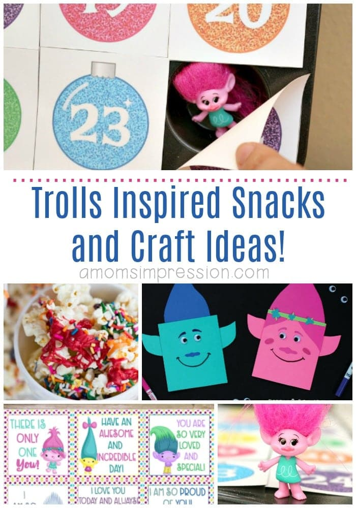 Trolls inspired snacks and crafts