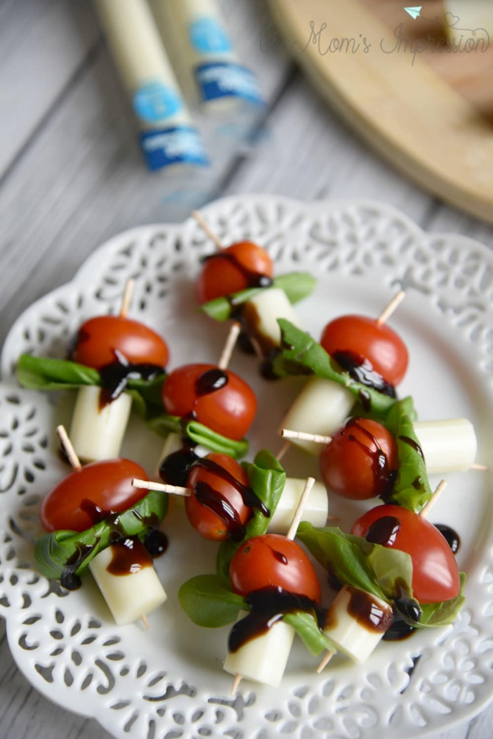 Mini Caprese Skewers With Balsamic Glaze