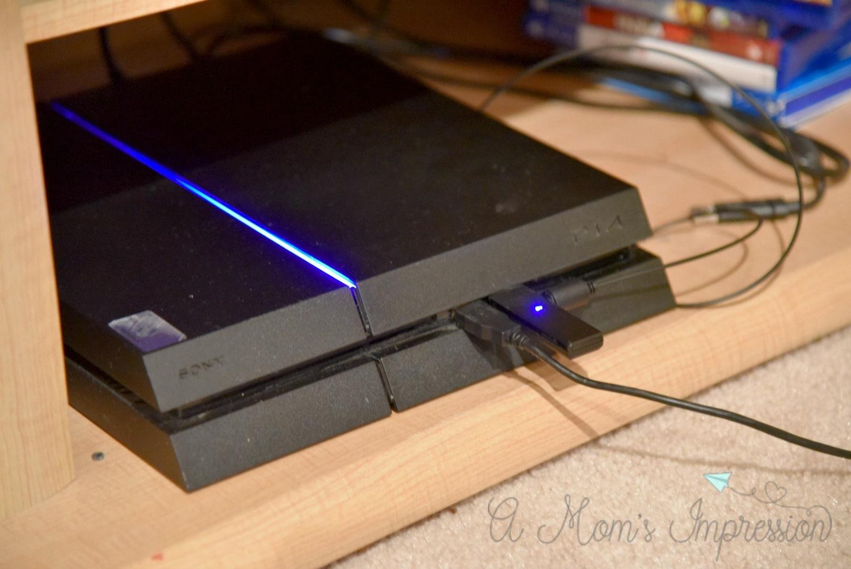 PS4 with wireless headphones