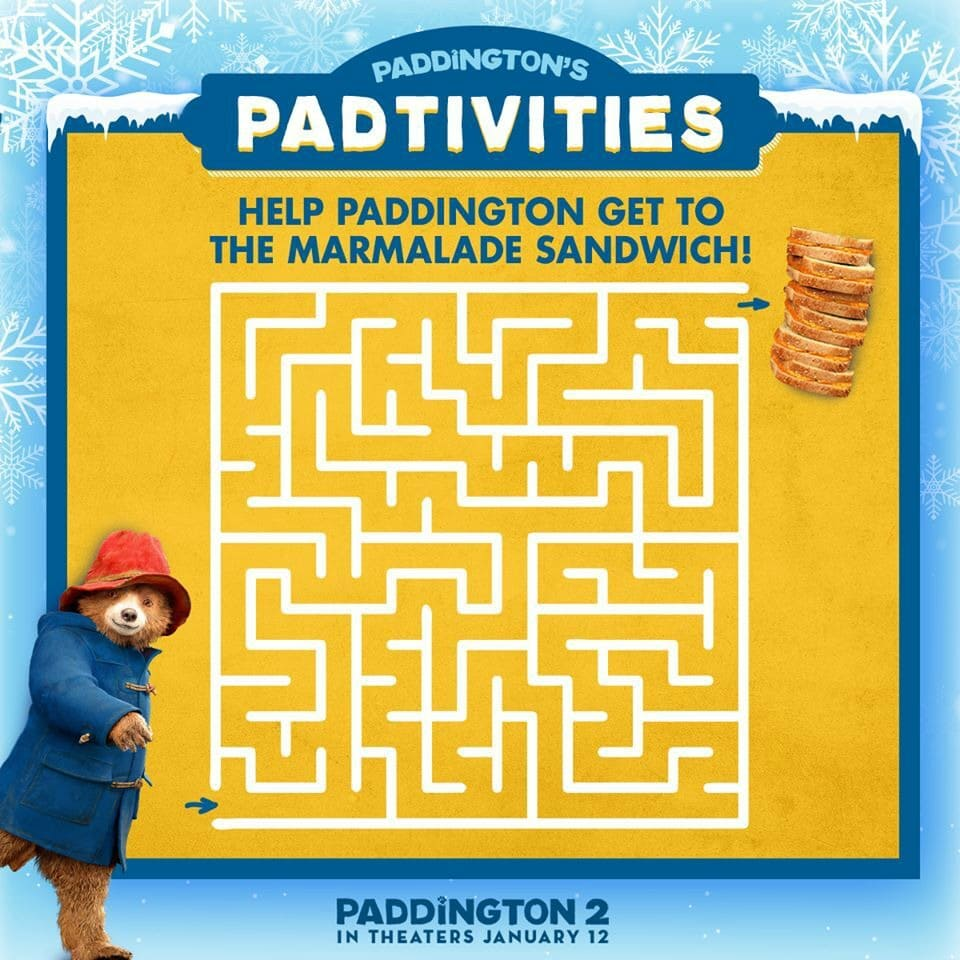 Paddington Bear Activities