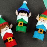 Easy Kids Christmas Crafts – Recycled Toilet Paper Tube Christmas Elves