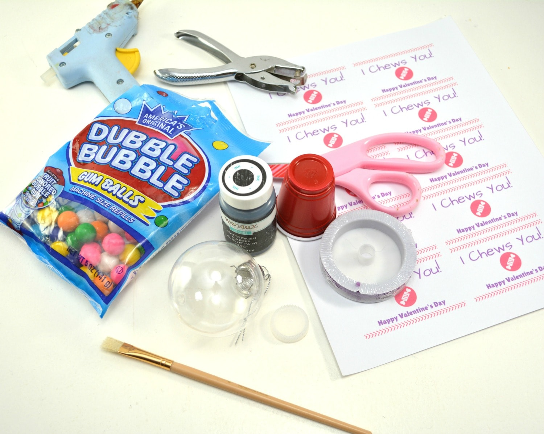 DIY Mini Gumball Machine supplies