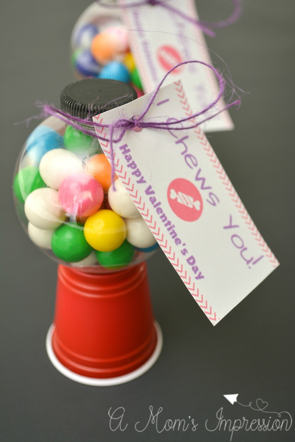 Homemade mini gumball machine