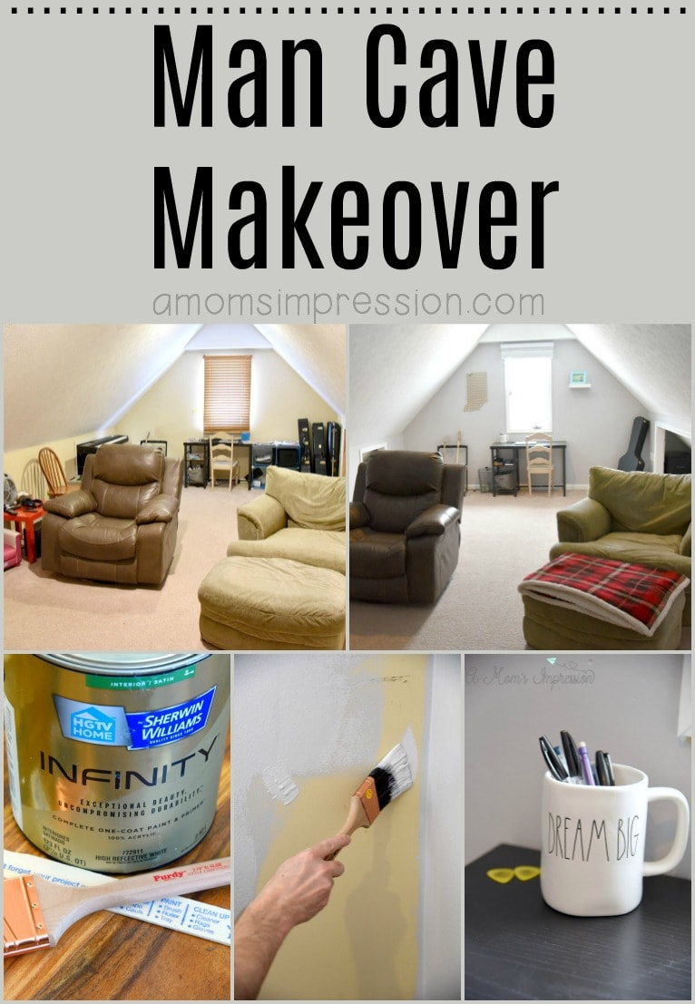 Your man's space doesn't have to be an eyesore. These DIY Man Cave Ideas can be done on a budget and are perfect for a small room, the room above the garage or even the basement.