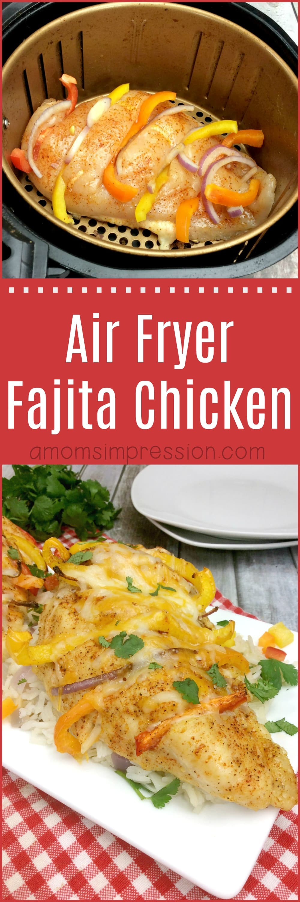 The easiest air fryer fajita chicken recipe