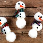 Easy Snowman Crafts for Kids – Pom Pom Snowman Magnet