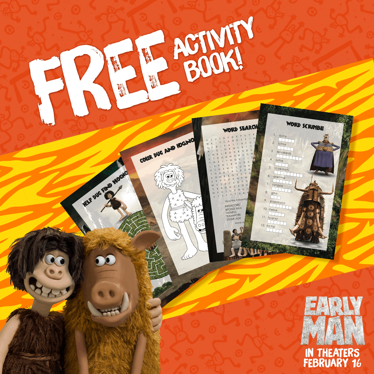 Early Man Activity Book Button