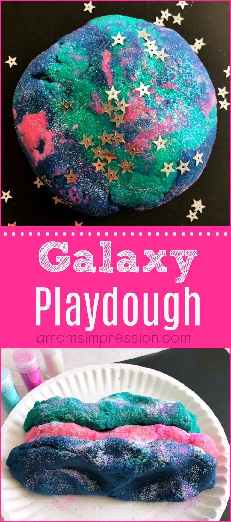 Galaxy Playdough Pin