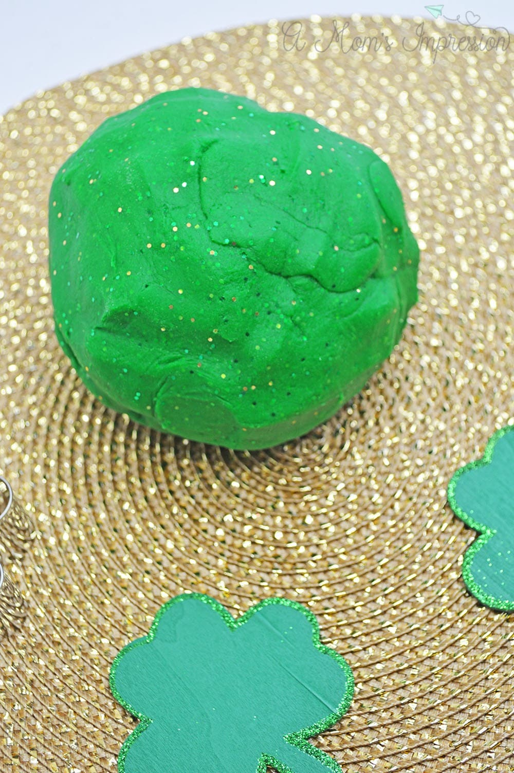 Green Glitter Playdough