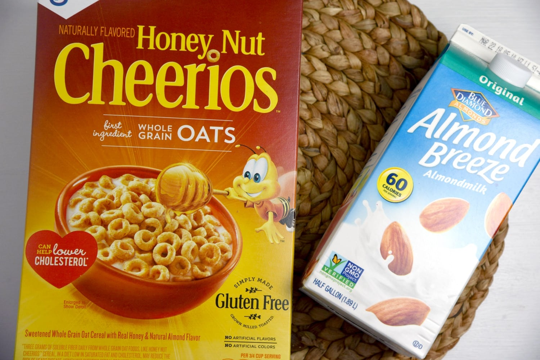 Honey Nut Cheerios and Almond Breeze