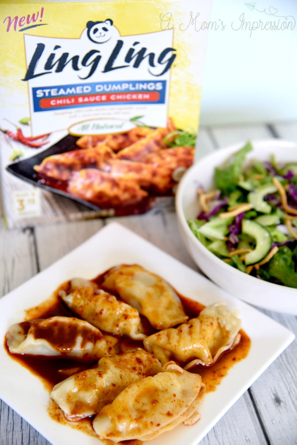 Ling Ling Dumplings and Asian Salad