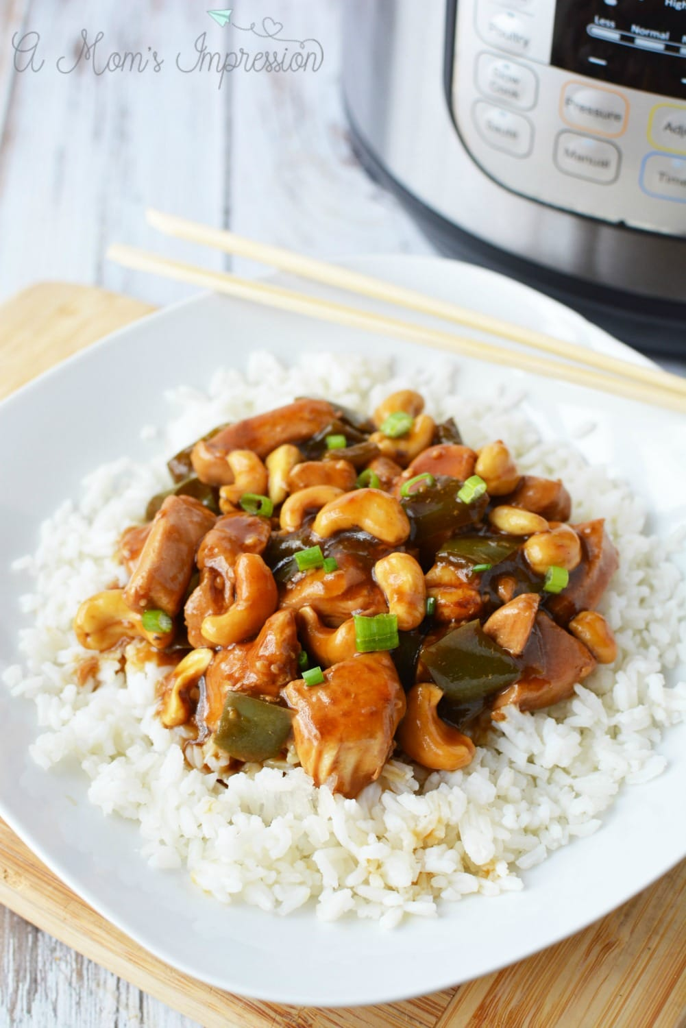 pressure cooker cashew chicken