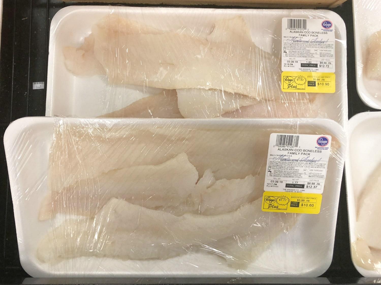 Alaska Cod at Kroger