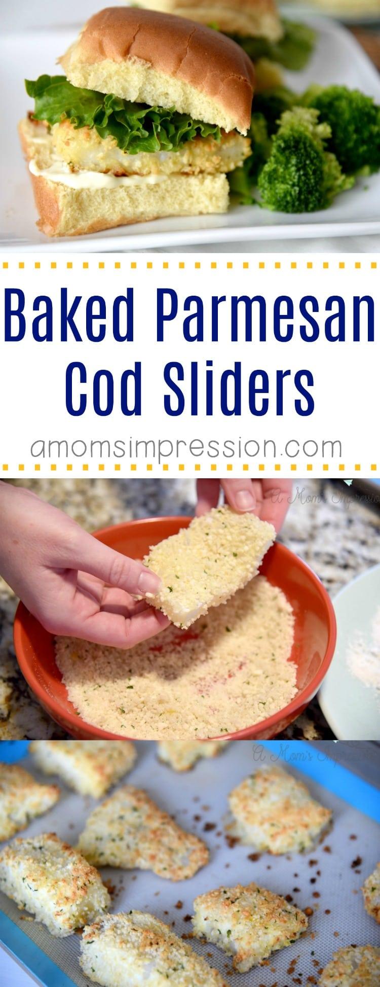 Baked Parmesan Alaska Cod Sliders pin