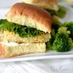 Baked Parmesan Cod sandwiches