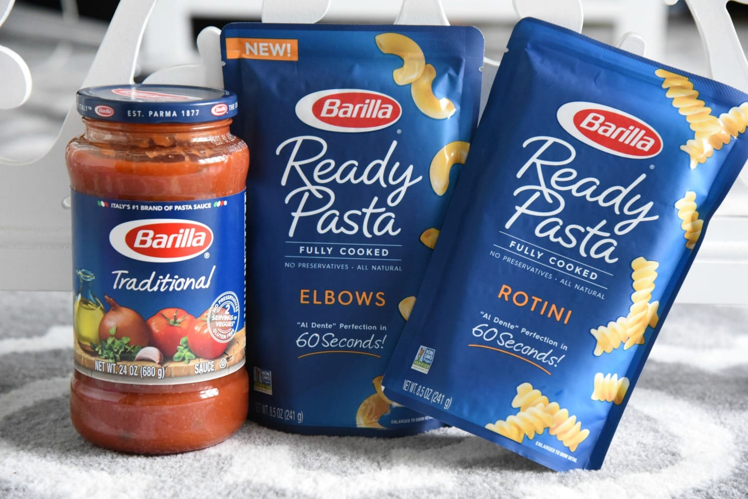 Barilla ready pasta and sauce