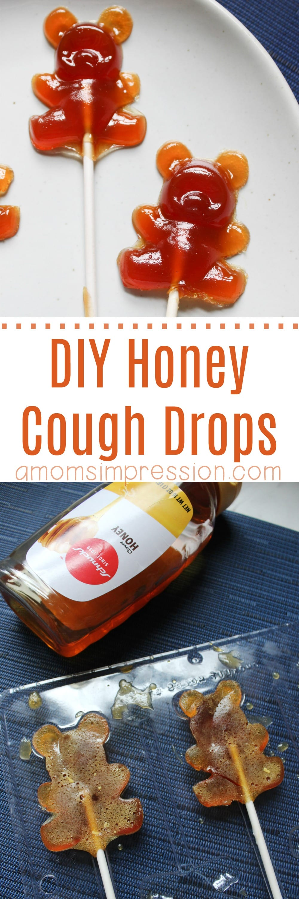 These homemade honey cough drops recipe can really soothe sore throats. They are great for kids when placed on lollipop sticks. You can adapt this recipe to add lemon, herbs, or essential oils for a custom remedy when you are feeling sick.