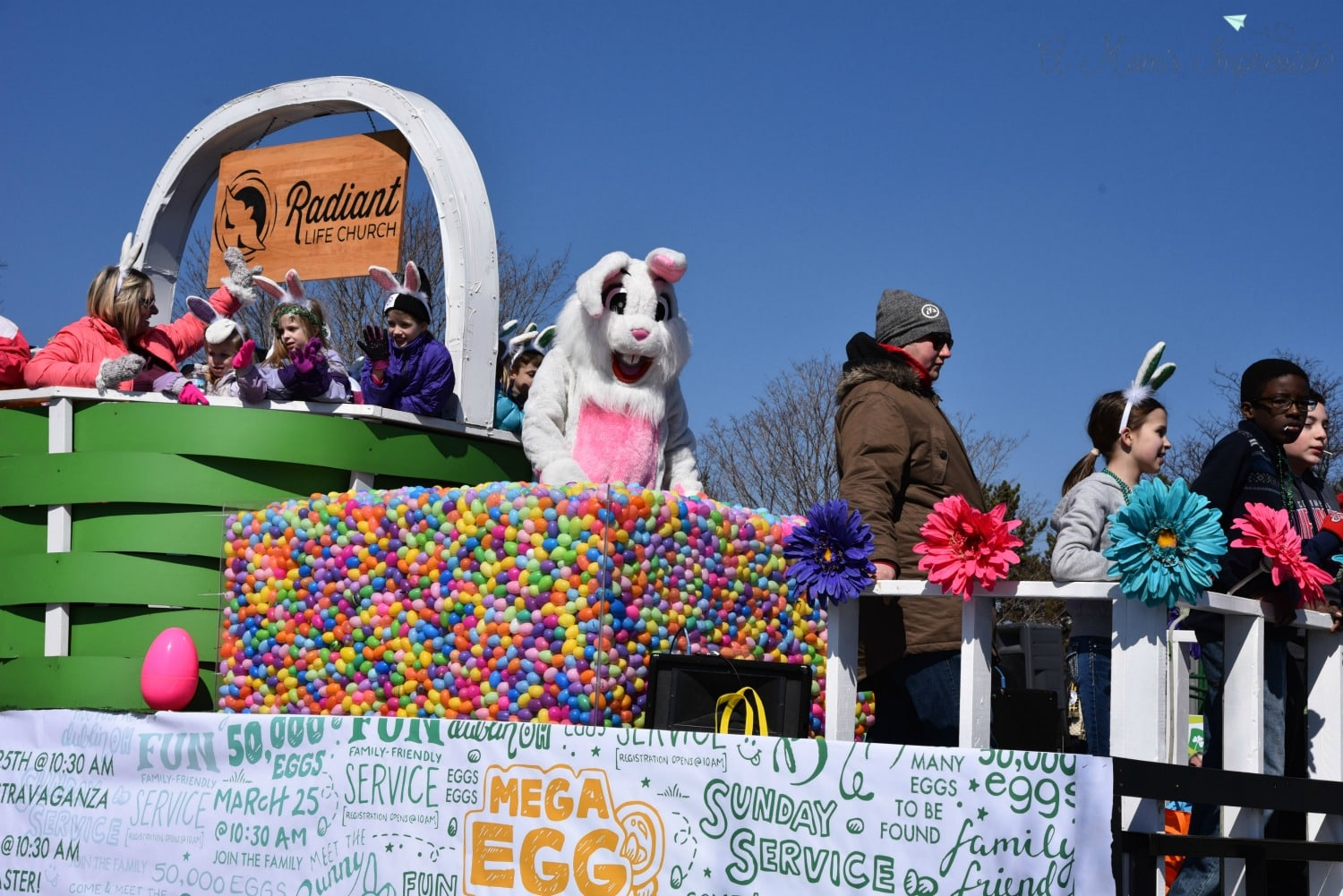 Easter Bunny in Parade