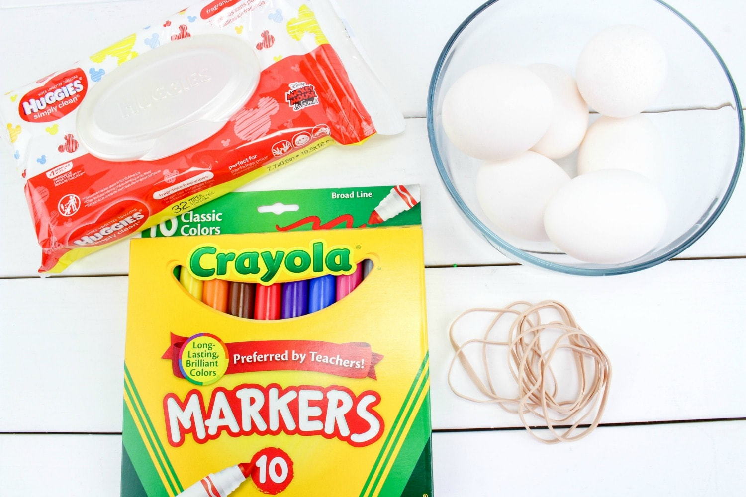 How to Tie Dye Easter Eggs supplies