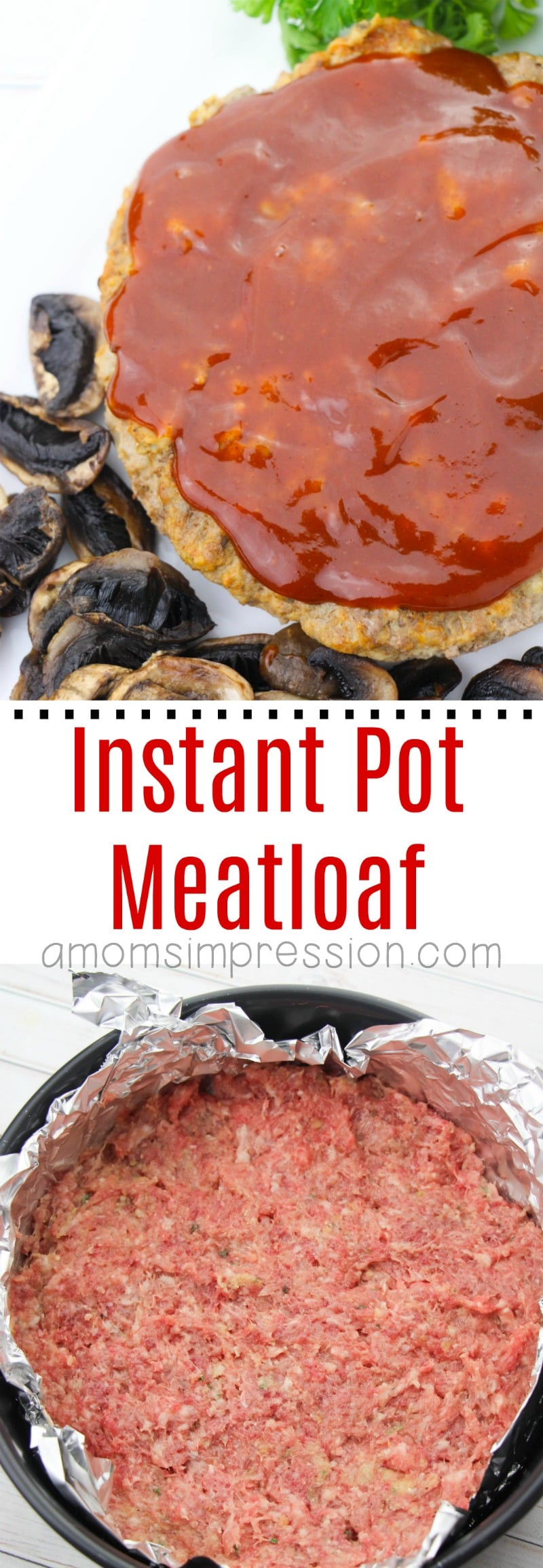 Instant Pot Meatloaf is so easy and can be made in less than 45 minutes. This recipe makes the best, most moist meatloaf and your family is going to ask for it over and over again.