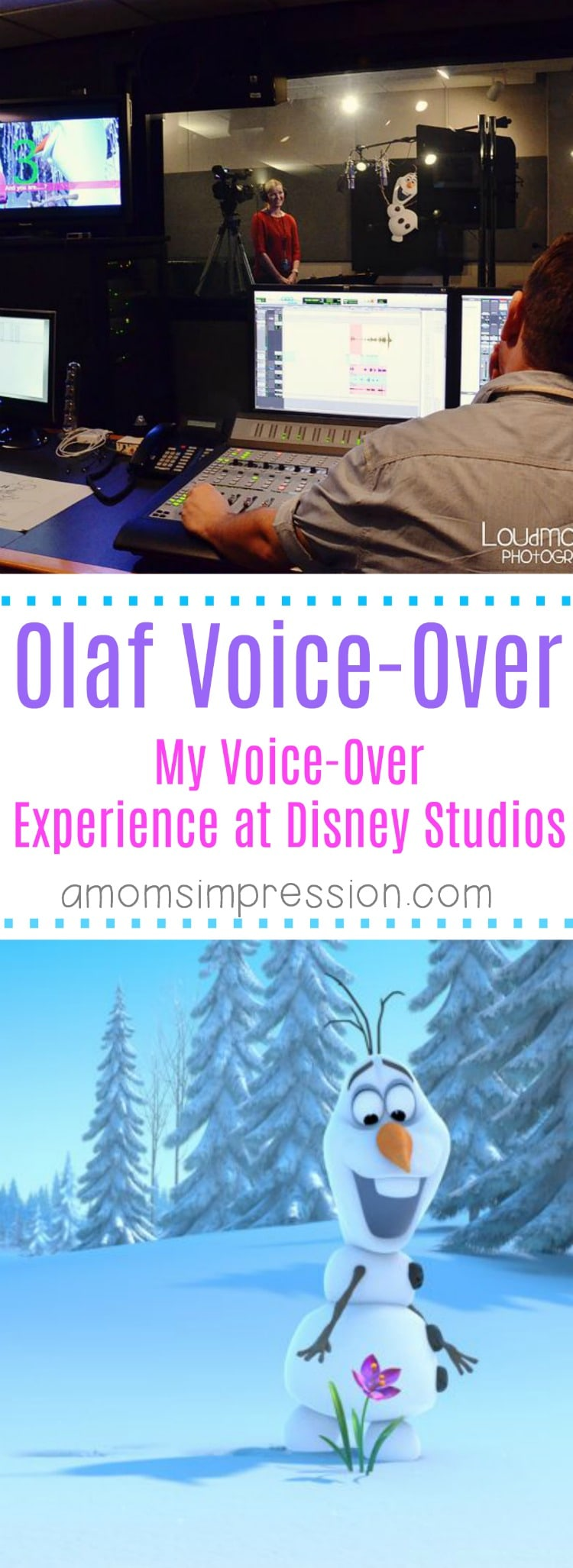 Olaf Voice-Over experience at Disney Animation Studios