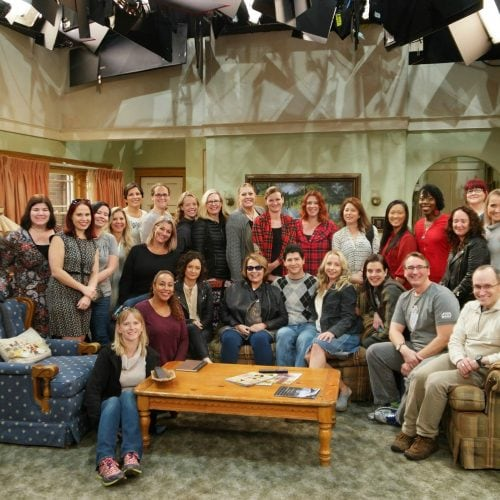 On the set of Roseanne