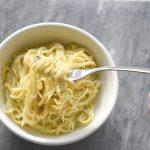 Garlic Parmesan Noodles Recipe with Dorot Gardens Fresh Frozen Garlic and Herbs