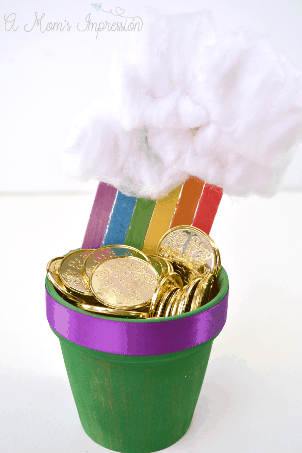 Rainbow Pot of Gold Craft for kids