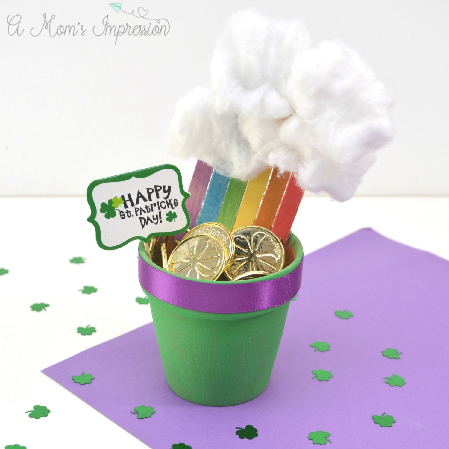 Rainbow pot of gold craft