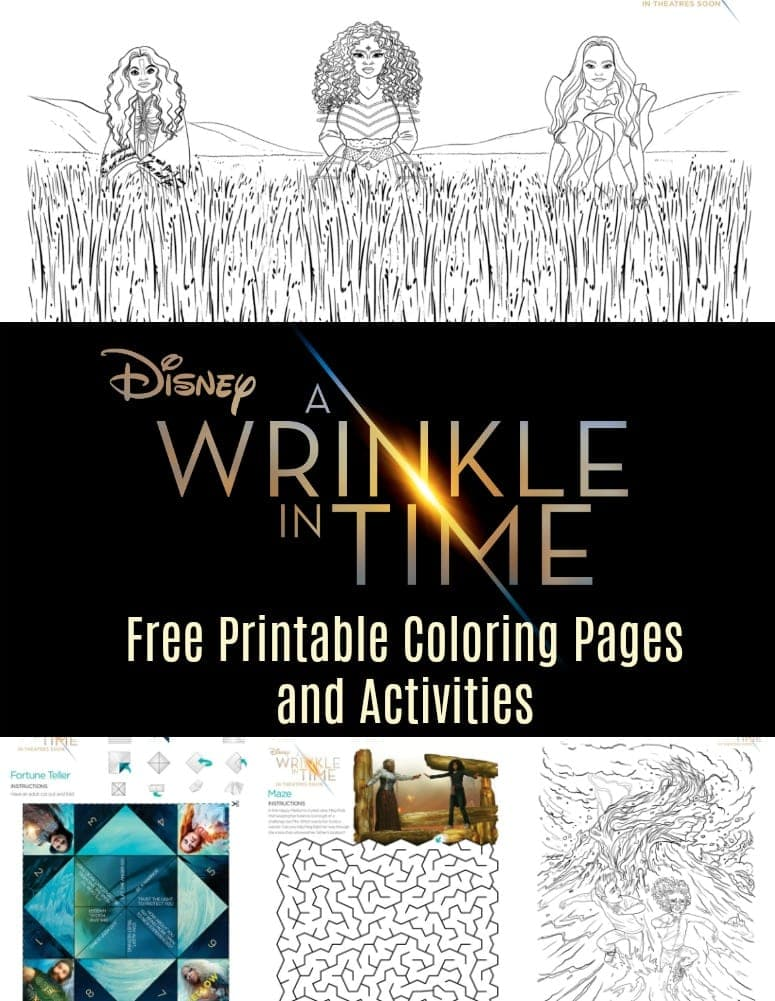 Wrinkle in Time Coloring pages