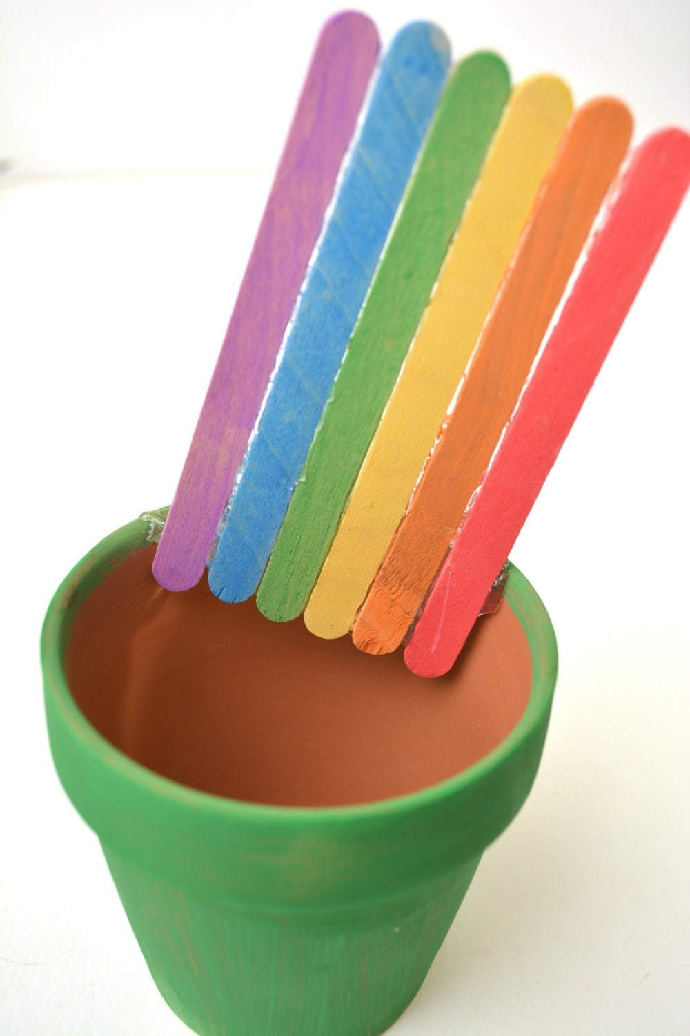 popsicle stick rainbow
