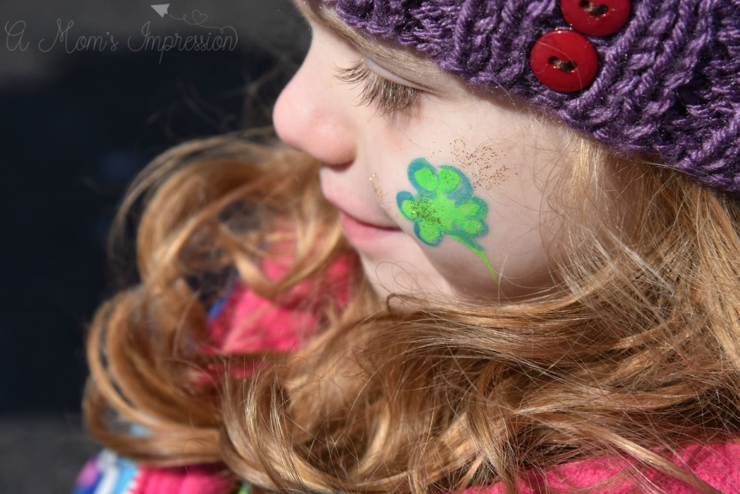 shamrock face paint