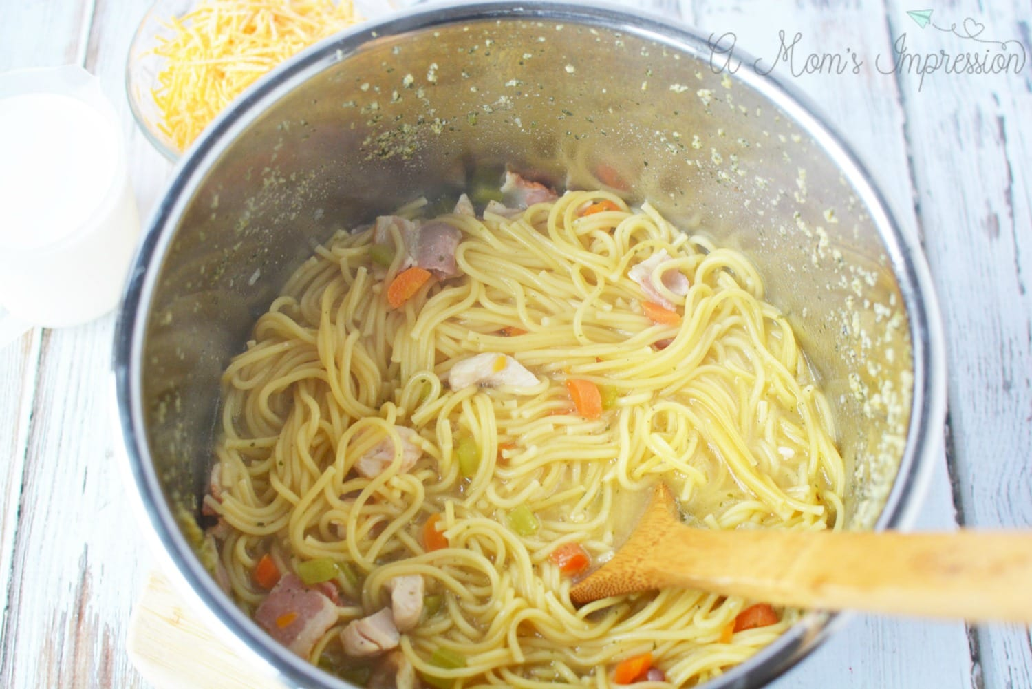 Chicken noodle soup Instant Pot