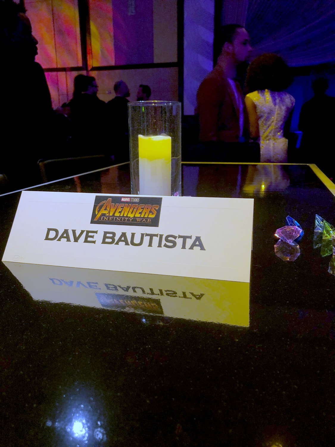 Dave Bautista's Table