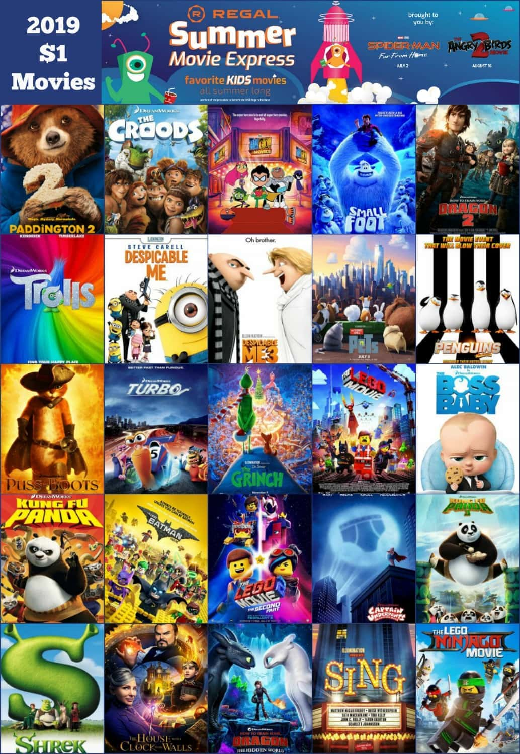 2019 Regal summer movies