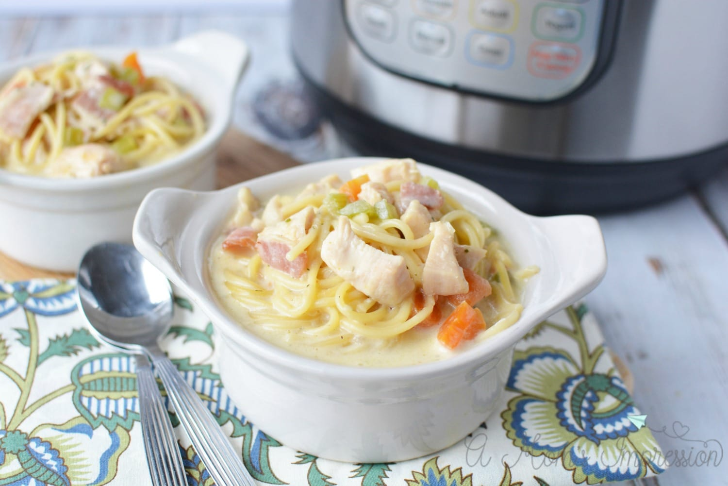 pressure cooker crack chicken noodle soup