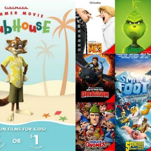 Cinemark summer movie clubhouse 2019 - Cinemark $1 Movies