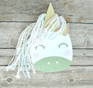 DIY unicorn birthday card