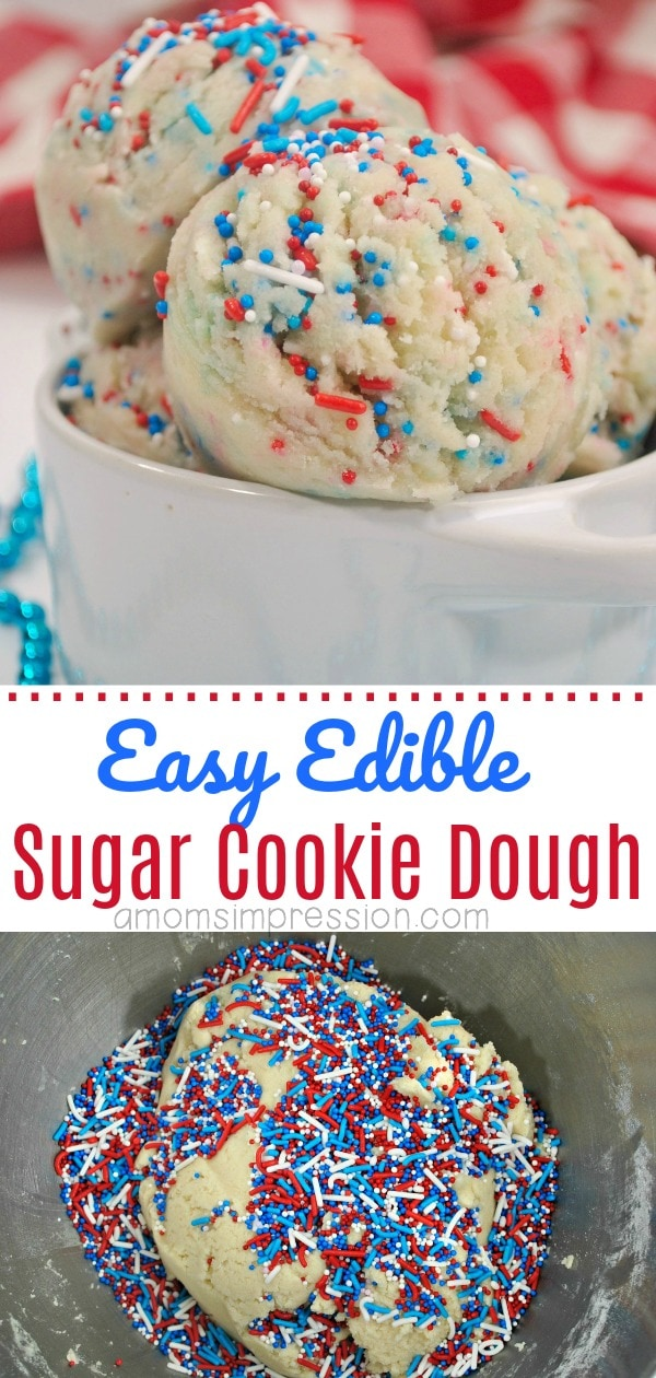 Easy edible sugar cookie dough pin