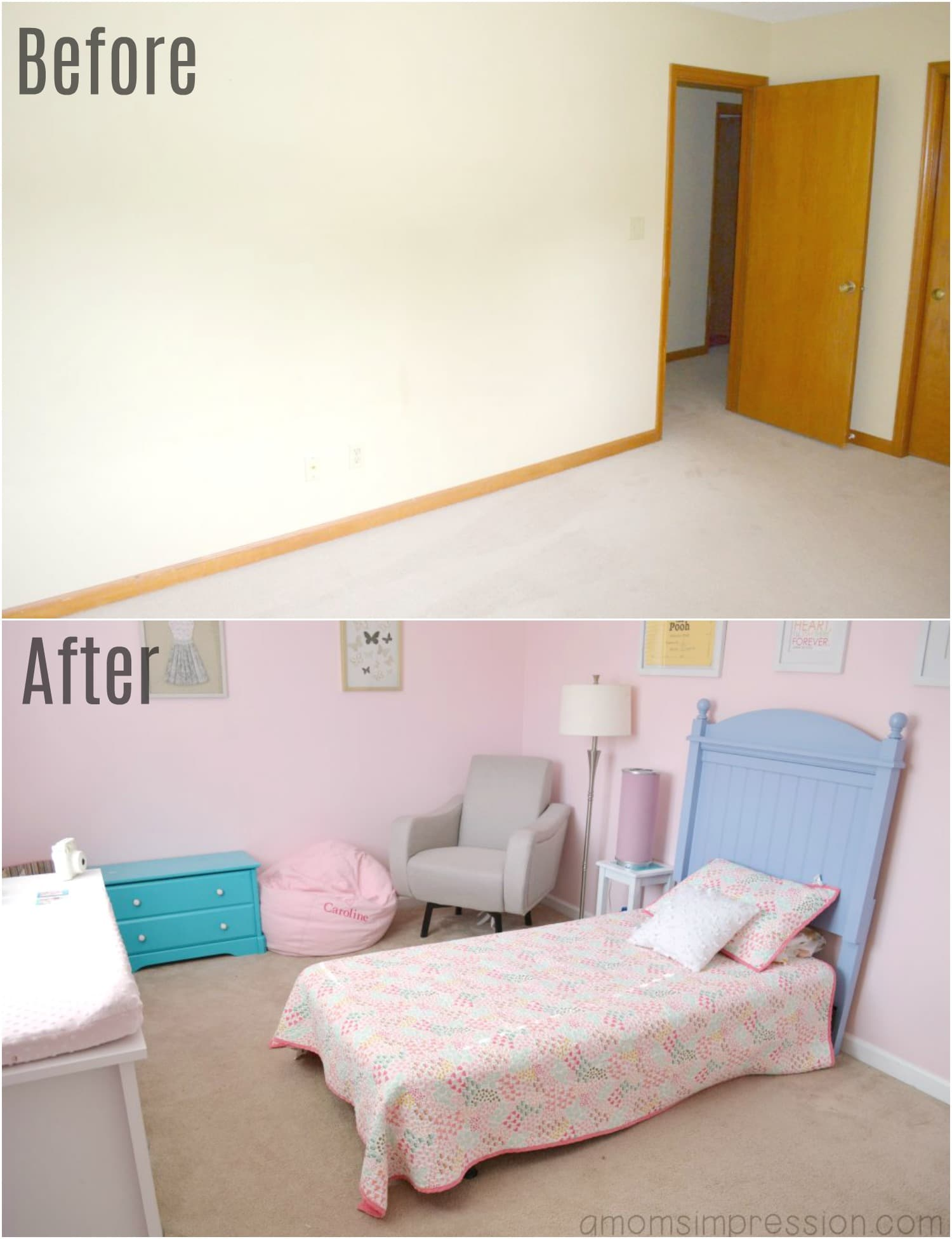 Little Girls Room Before and After