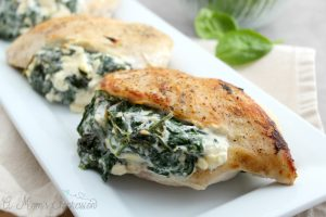 Keto Spinach Stuffed Chicken Breast with Cheese