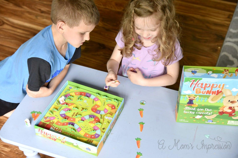 playing a preschool board game