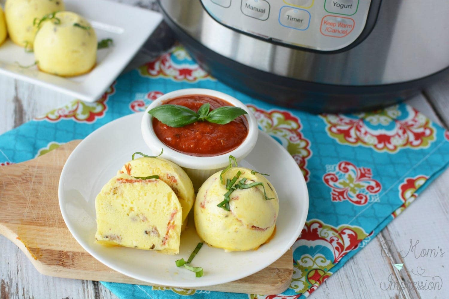 Instant Pot pizza egg bites