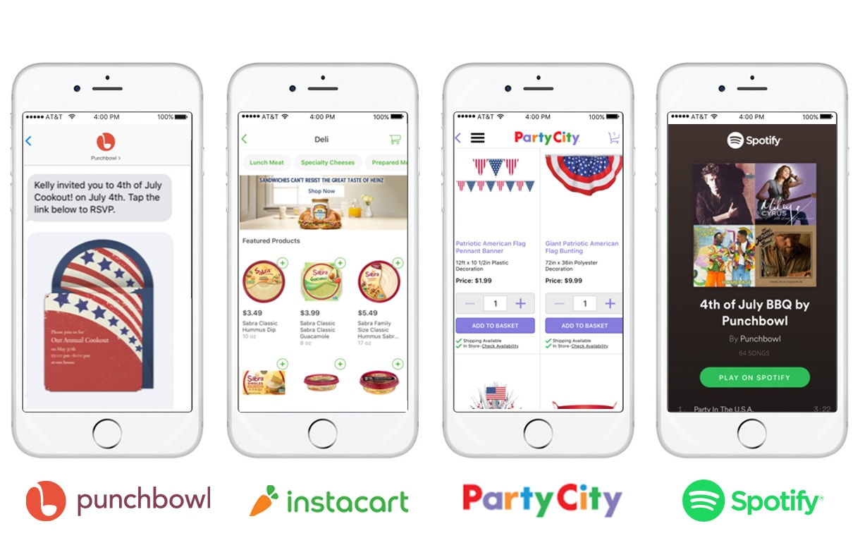 Party Planning Punchbowl Instacart Party City Spotify