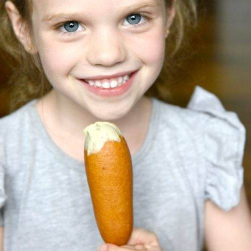 Girl with Corndog