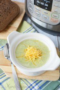 Easy Instant Pot Broccoli Cheese Soup Recipe
