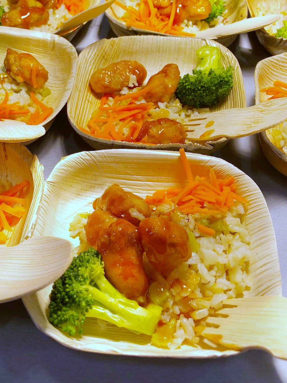 Orange Chicken school lunch